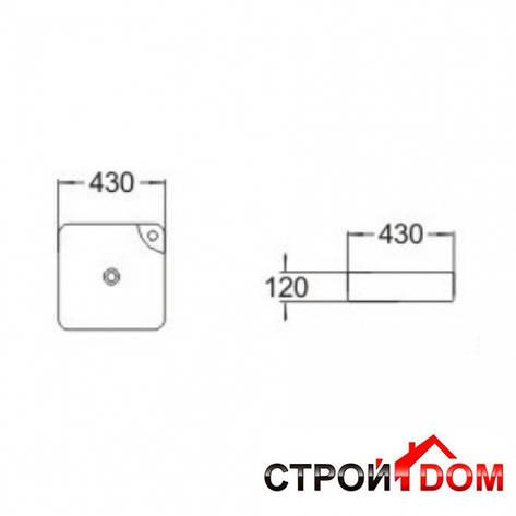 Раковина накладная квадратная Volle 13-01-038, фото 2