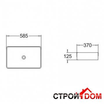 Раковина накладная прямоугольная Volle 13-01-223, фото 2