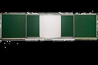 Школьная доска магнитная раздвижная 4000х1000 мм