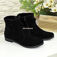 """Ботинки зимние замшевые женские, на низком ходу. ТМ """"Maestro"""""""