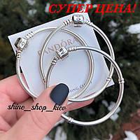 Promo. Новинка. 995UAH. 995 грн. В наличии. Основа браслет Pandora (Пандора)  застежка классика серебро 925 пробы 638050365ff45