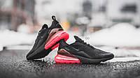 Кроссовки мужские в стиле Nike Air Max 270 Black and Red (Реплика ААА+), фото 1