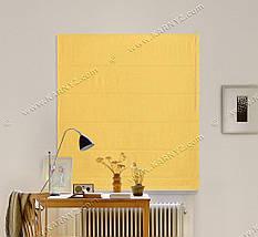 Римская штора Джуси Велюр желтый, фото 3