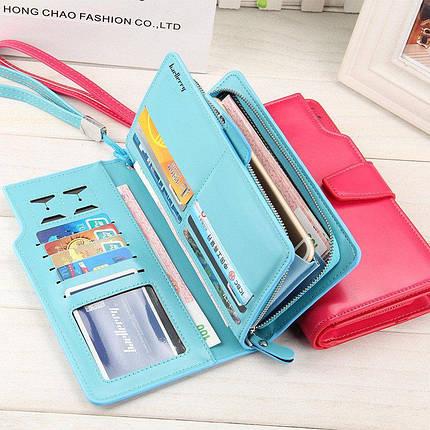 Женский кошелек Baellerry 1503 Голубой, розовый, фото 2