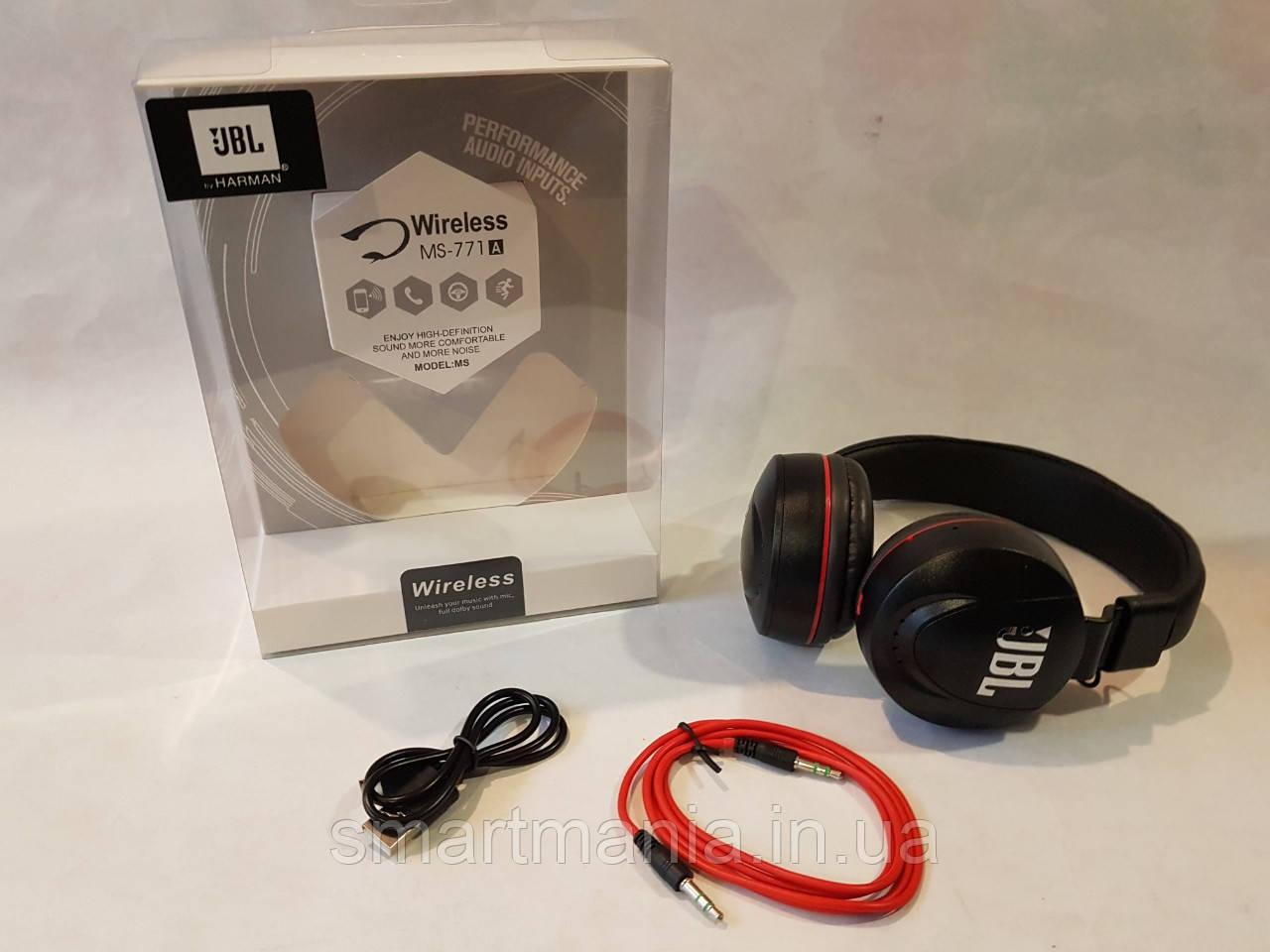 Наушники JBL MS-771 Bluetooth, блютуз наушники безпроводные Реплика