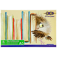 Альбом для малювання ZiBi А5 8л 100г/м2 скоба ZB.1418