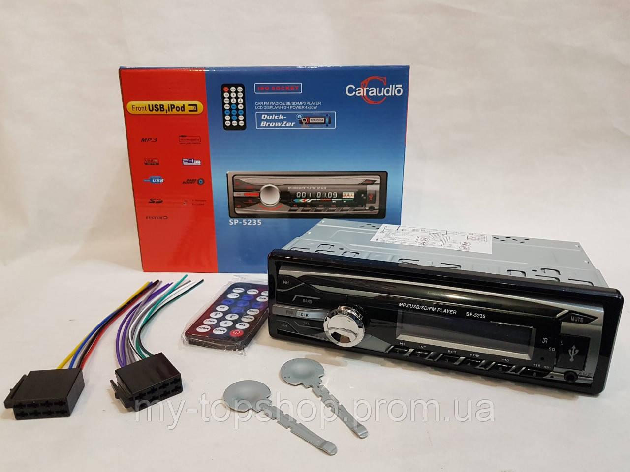 Автомагнитола SP-5235, MP3, FM, USB, Micro SD, AUX (аналог Pioneer)
