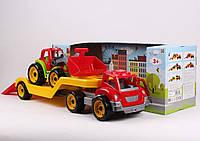 Машина 3916 ТехноК, Автовоз, с трактором, в кор-ке