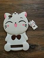 Объемный 3d чехол для Xiaomi Redmi 4a Кошечка белая