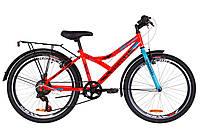 "Велосипед 24"" Discovery FLINT MC 2019 с багажником (14G Vbr рама-14"" St) ТМ Discovery Оранжевый OPS-DIS-24-130"