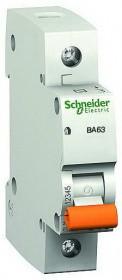 Автоматический выключатель Schneider Electric ВА63 1П 20A C