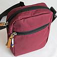 Городская сумка на плечо Red and Dog Tomen бордовый ВхШхГ: 20х16х6 см., фото 6