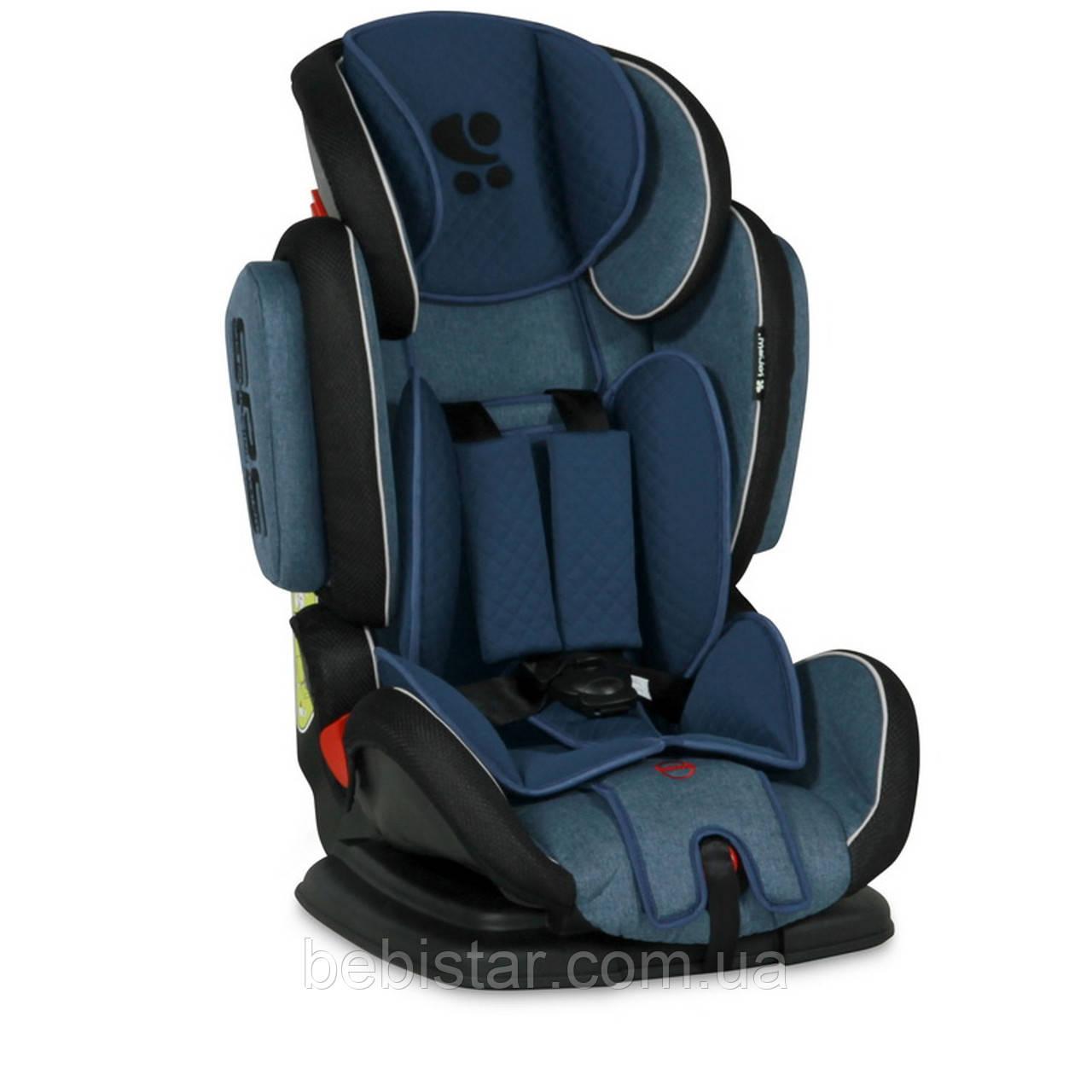 Автокресло синее Lorelli  MAGIC PREMIUM 9-36 KG BLUE для детей от 1 года до 12 лет