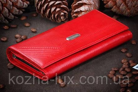 Кошелёк женский кожаный красный, фото 2