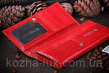 Кошелёк женский кожаный красный, фото 3