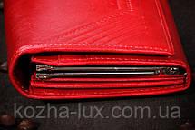 Кошелёк кожаный красный, фото 3