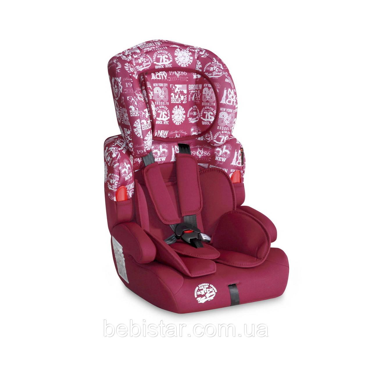 Автокресло красное Lorelli KIDDY 9-36 KG RED для детей от 1 года до 12 лет