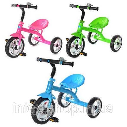 Детский трехколесный велосипед Bambi М 2101 (Голубой), фото 2