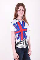 Модная женская футболка двойка в расцветках, фото 1