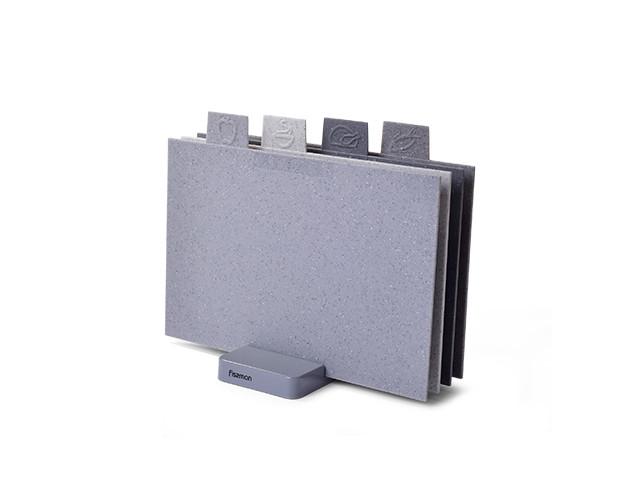 Набор из 4-х 32x19см пластиковых разделочных досок Fissman