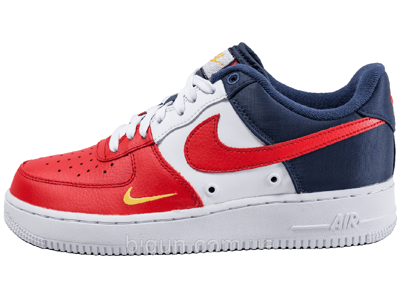 35d5217f Мужские кроссовки Nike Air Force 1 Low Mini Swoosh (найк аир форс, красные/