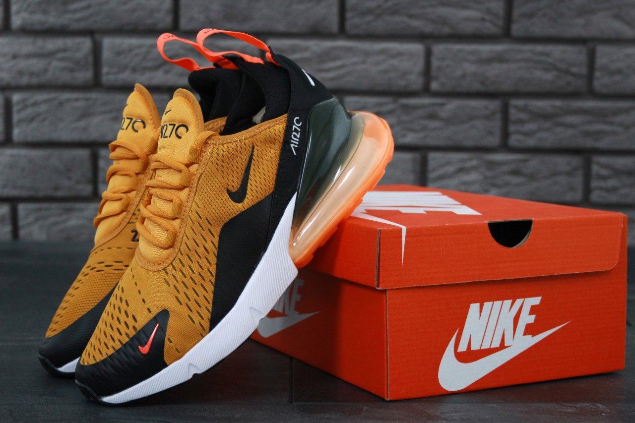 Кроссовки мужские в стиле Nike Air Max 270 Yellow (Реплика ААА+)