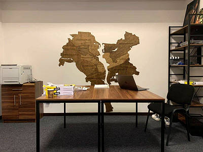 Карта Киева на стену