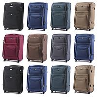 Тканевые чемоданы Wings 6802 на 2-х колесах