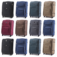 Большие тканевые чемоданы Wings 6802 на 2-х колесах