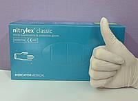 Рукавички нітрилові неопудрені Nitrylex classic, S, білі, 200 шт.
