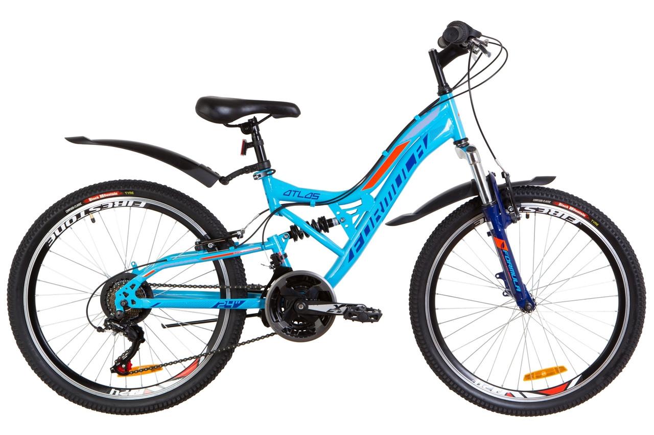 """Велосипед подростковый двухподвесный 24"""" FORMULA ATLAS 2019"""