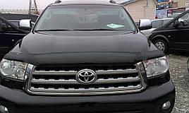 Дефлектор капота (мухобойка) Toyota Tundra / Sequoia 2007 -> (HIC)