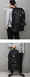 Рюкзак раскладывающийся черный, фото 7
