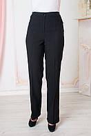 Прямые женские брюки больших размеров Светлана черные, фото 1