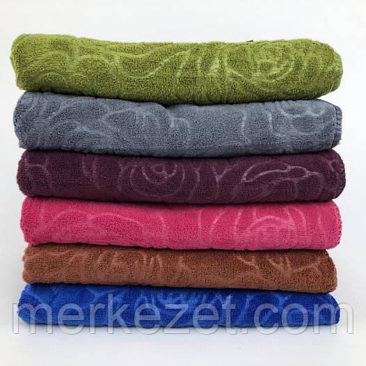 """Полотенца микрофибра. Полотенца метровые """"Роузи"""". Полотенце для бани"""