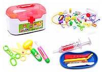 Доктор 33 дет., стетоскоп, очки, шприц, грелка…, в чемоданчике 25*15*15см /24-2/