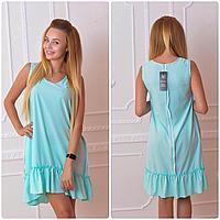 Платье 790 спорт  ментоловое