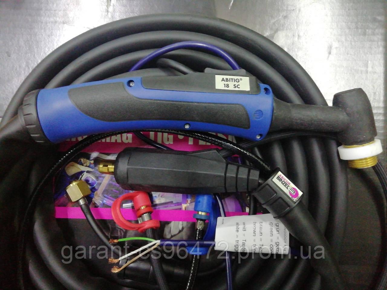 Сварочная горелка ABITIG® GRIP SC 18 (4 метровая)охлаждение жидкость, управление подачи газа кнопкой