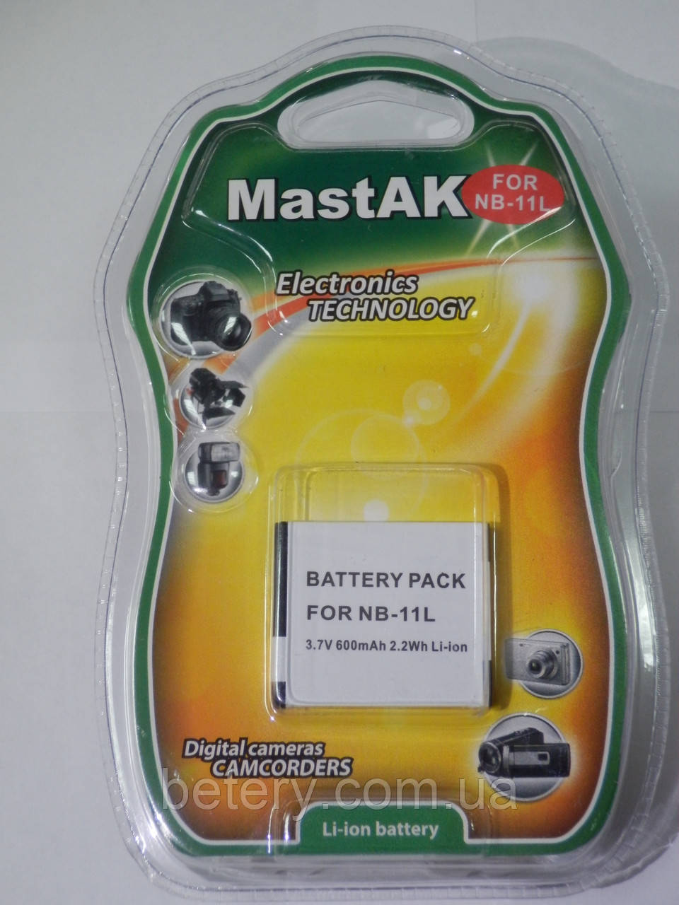 Аккумулятор Mastak аналог Canon NB-11L