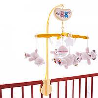 Музыкальный мобиль на детскую кроватку Biba Toys Счастливые мишки