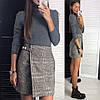 Женская короткая юбка на запах 42-46, фото 2
