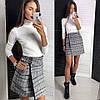 Женская короткая юбка на запах 42-46, фото 7
