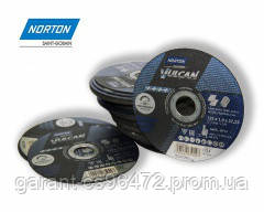 Круг зачисний по металу NORTON VULKAN 230х6,4х22,23