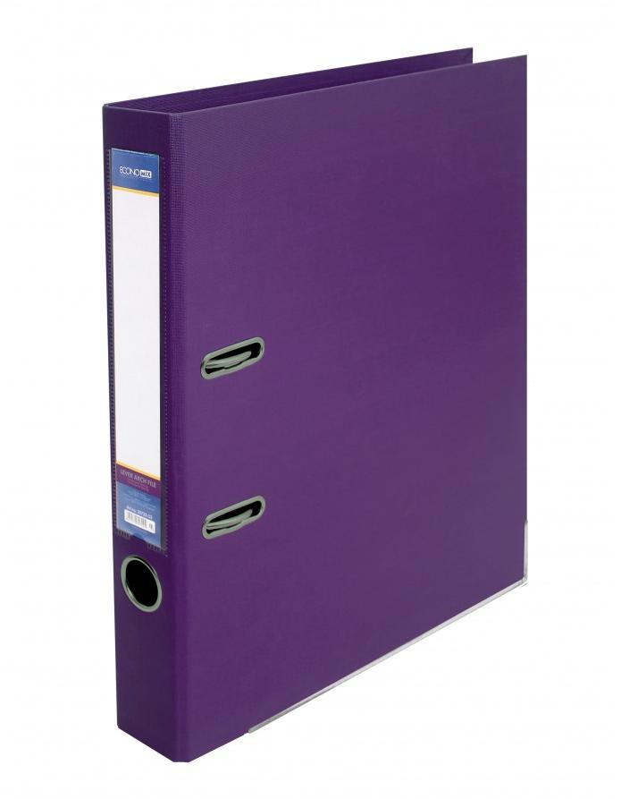 Папка регистратор А4 LUX Economix, 70 мм, фиолетовая E39723*-12
