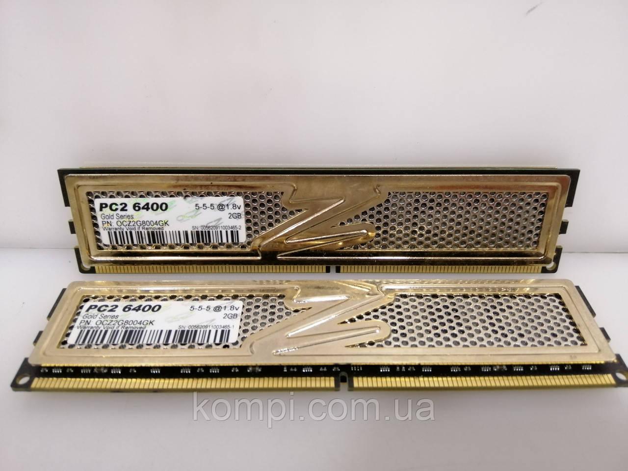 Оперативная память OZC TITANIUM 4Gb Kit (2x2Gb) DDR2 PC2-6400 радиатор