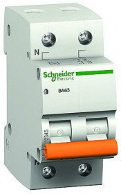 Автоматический выключатель schneider electric ВА63 1П+Н 32A C