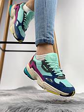 Женские кроссовки в стиле Adidas Falcon Clear Mint, фото 2