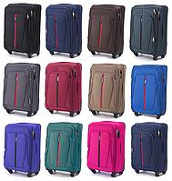 Средние тканевые чемоданы Wings 1706 на 4-х колесах