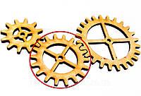 Деревянные шестеренки 57 ММ ШЕСТЕРЁНКА дерев'яні шестерінки для скрапбукинга заготовки для бизиборда декупажа, фото 1