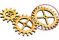 Деревянные шестеренки 72 ММ ШЕСТЕРЁНКА дерев'яні шестерінки для скрапбукинга заготовки для бизиборда декупажа, фото 1